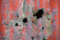Old red rusty metal wavy texture Stock Photos