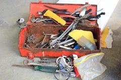 Old rusty tool box Stock Image