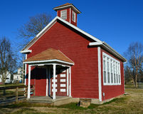 Old Red School House. A one room schoolhouse in Shipman, Illinois Royalty Free Stock Photography