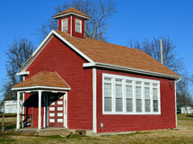 Old Red School House. A one room schoolhouse in Shipman, Illinois Royalty Free Stock Image