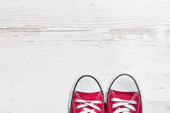 Old red shoes Royalty Free Stock Images