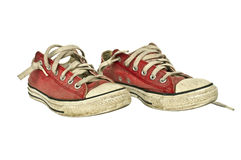 Old red sneakers Royalty Free Stock Images