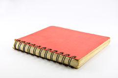 Old Red Spiral Notebook Royalty Free Stock Image
