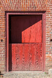 Old, Red, Split Door Stock Image