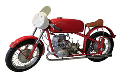 Old red sport bike Stock Image