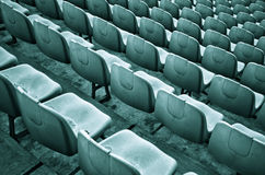 Old Stadium Chairs Stock Image