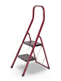 Old red step ladder Royalty Free Stock Images
