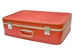 old red suitcase στοκ εικόνα