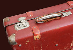 Old Red Suitcase Royalty Free Stock Photos
