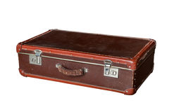 Old red suitcase Royalty Free Stock Photo