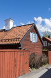Old red buildings Sigtuna Royalty Free Stock Image