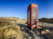 Old Red Telephone Box Royalty Free Stock Photos