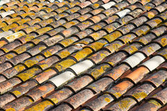 Old red tile Stock Photos