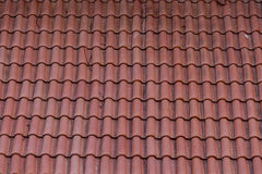 Old Red Tile Roof Needs Repair Stock Photos