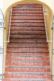 Old Red Tile Steps Royalty Free Stock Image