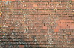 Old red tiled roof Stock Photos