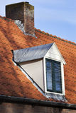 Old red tiled roof with dormer Stock Photography