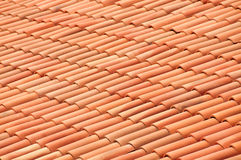 Old red tiles roof background Royalty Free Stock Photos