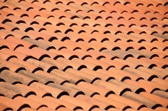 Old red tiles roof background Stock Image