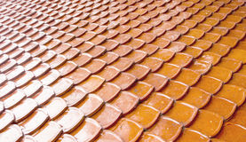 Old Red Tiles Roof Background Royalty Free Stock Photography