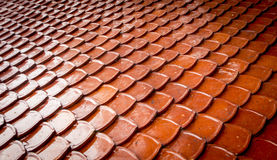 Old Red Tiles Roof Background. Architecture background Royalty Free Stock Image