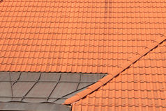 Old red tiles roof background Royalty Free Stock Images
