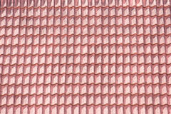 Old red tiles roof pattern Stock Photos