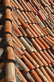 Old red tiles Stock Photos