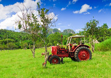 Old red tractor Royalty Free Stock Images