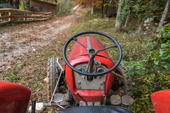 Old red tractor Royalty Free Stock Photos