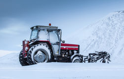 Old red tractor Royalty Free Stock Photography