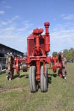 Old red tractor Stock Photography