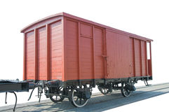 Old red train wagon, Royalty Free Stock Images