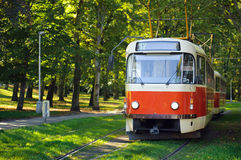 Old red tram Royalty Free Stock Images