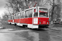 Old Red Tram Stock Image