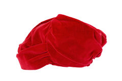 Old red turban Stock Photo