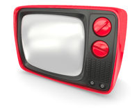Old red TV Royalty Free Stock Photography