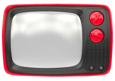 Old red TV Royalty Free Stock Photo