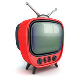 Old red TV Stock Images