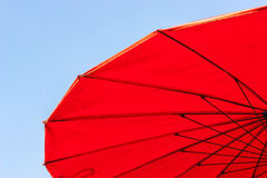 Old red umbrella Royalty Free Stock Images