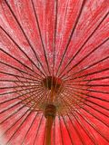 Old red umbrella Stock Photography