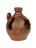 Old red vase from clay, the handwork Royalty Free Stock Photography