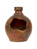 Old red vase from clay, the handwork Royalty Free Stock Image