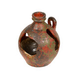 Old red vase from clay, the handwork Royalty Free Stock Photos