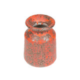 Old red vase from clay, the handwork Royalty Free Stock Photo