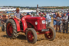 Old red vintage tractor at show Stock Photography