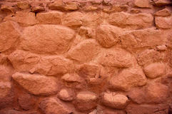 Old Red Wall. Close up photo of an old red brick wall Stock Images