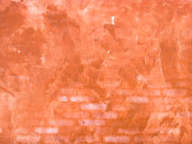 Old red wall background. Old wall textured in red background Stock Photo