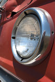Old Red Wheat Truck Headlight Royalty Free Stock Photo