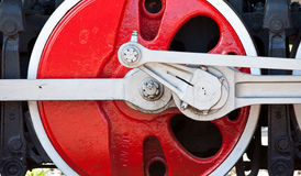 Old red wheel Royalty Free Stock Photography